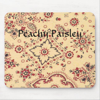 Western Peachy Paisley Design Mousepad