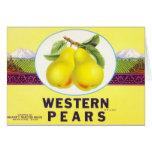 Western Pears - Vintage Fruit Crate Label