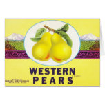 Western Pears - Vintage Fruit Crate Label Card