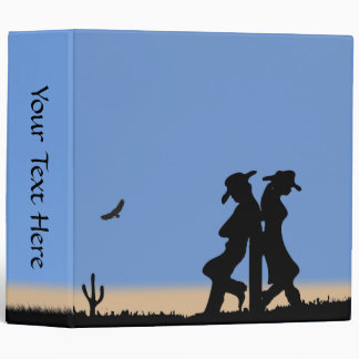 Western Personalized 3 Ring Binder