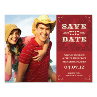 Western Photo Save the date card Custom Invites