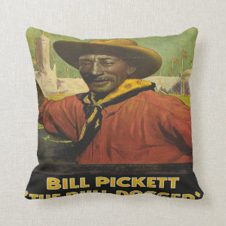 Western Pillow With Cowboy Steer Dogger