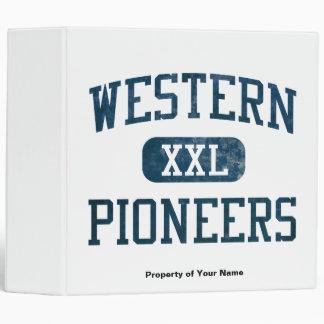 Western Pioneers Athletics 3 Ring Binder