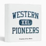 Western Pioneers Athletics Vinyl Binders