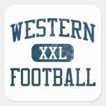 Western Pioneers Football Square Sticker