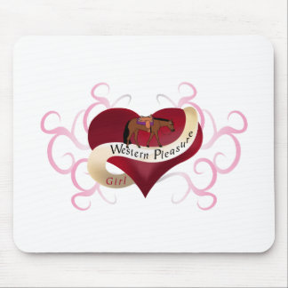 Western Pleasure Girl Mouse Pads