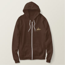Western Pleasure Horse Embroidered Hoodie