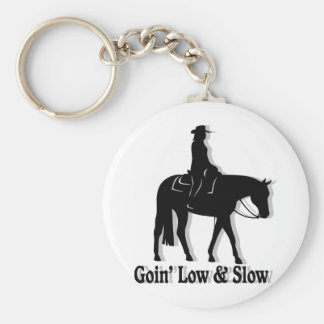 Western Pleasure Horse Low and Slow Basic Round Button Keychain