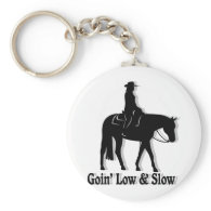 Western Pleasure Horse Low and Slow Keychains