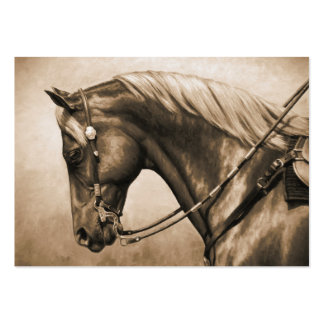 Western Pleasure Quarter Horse in Sepia Large Business Cards (Pack Of 100)