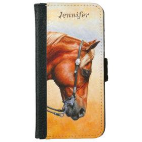 Western Pleasure Quarter Horse iPhone 6 Wallet Case