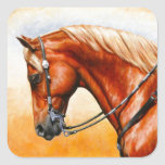 Western Pleasure Quarter Horse Square Sticker