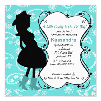 Western Pregnant Mama to Be Baby Shower Invitation