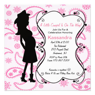 Western Prego Mama to Be Baby Shower Invitation