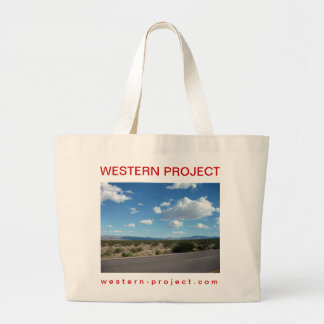 Western Project Desert Road Tote Bags