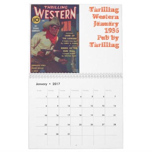 Western Pulp Covers Calendar 2012