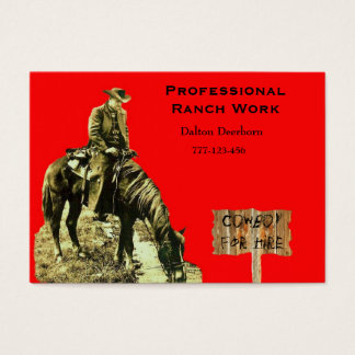 WESTERN RANCH COWBOY BUSINESS CARD TEMPLET