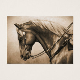 Western Ranch Horse Old Photo Sepia Business Card