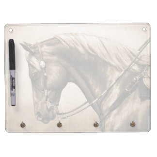 Western Ranch Horse Old Photo Sepia Dry Erase Board With Keychain Holder