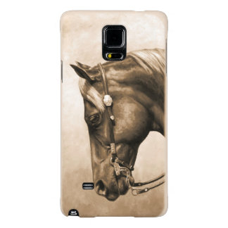 Western Ranch Horse Old Photo Sepia Galaxy Note 4 Case