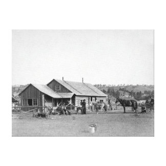 Western Ranch House in South Dakota Photograph Canvas Print