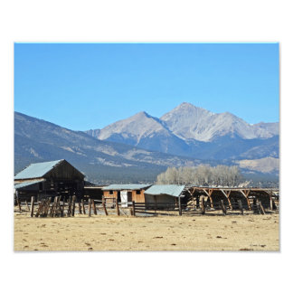 Western Ranch with View Photo Print