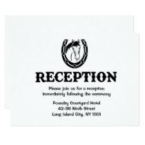 Western Reception Horse Country Wedding Black Invitation