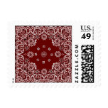Western Red Bandana Postage Stamps