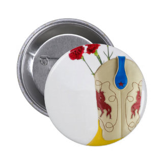 Western Red Yellow Blue Cowboy Boot Horse Rodeo Button