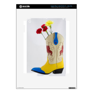 Western Red Yellow Blue Cowboy Boot Horse Rodeo iPad 3 Skins