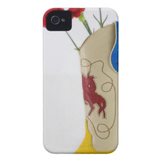 Western Red Yellow Blue Cowboy Boot Horse Rodeo iPhone 4 Case-Mate Case