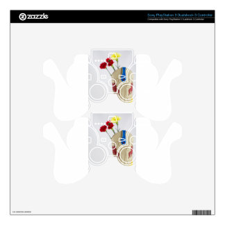 Western Red Yellow Blue Cowboy Boot Horse Rodeo Skin For PS3 Controller