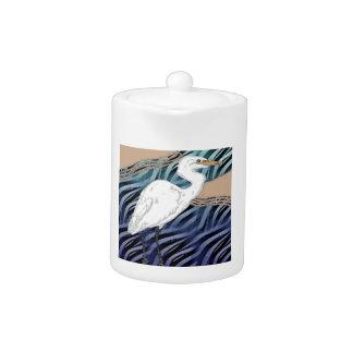 Western Reef Heron Teapot