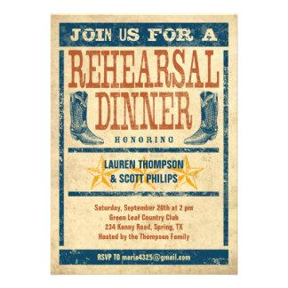 Western Rehearsal Dinner Invitations