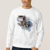 Western Reining Quarter Horse trot Equestrian Gift Sweatshirt