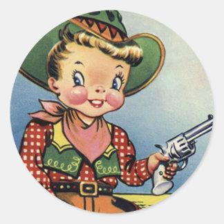 Western Retro Lil' Cowboy Fun Stickers