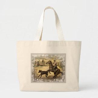 Western Ride Large Tote Bag