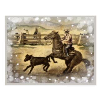 Western Ride Postcard