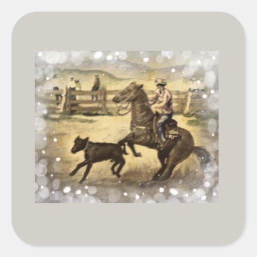 Western Ride Square Sticker