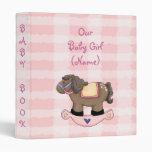 Western Rockin Horse Girl Baby Book Album Avery Bi 3 Ring Binder