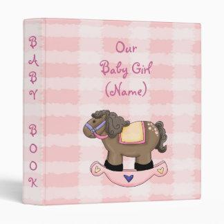 Western Rockin Horse Girl Baby Book Album Avery Bi Vinyl Binder