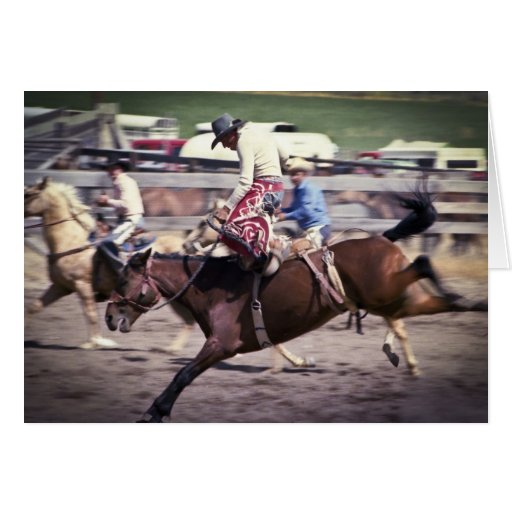 Western Rodeo #1 Greeting Card