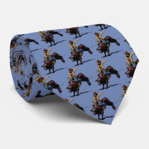 Western Rodeo Bull Riding Mens Necktie