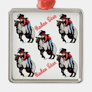 Western Rodeo Christmas Ornament Mutton Buster