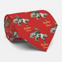 Western Rodeo Cowboy Bronc Rider Necktie