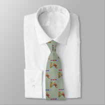 Western Rodeo Cowboy Bull Rider And Rodeo Clown Neck Tie