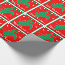 Western Rodeo Cowboy  Bull Riding  Christmas Wrapping Paper