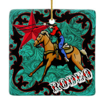 Western Rodeo Cowboy Calf or Team Roping Ornament