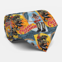 Western Rodeo Cowboy Collage Print Necktie