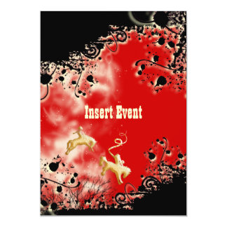 Western rodeo cowboy horse party card